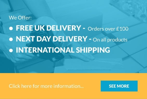 We offer Free UK Deliver, Next Day Delivery, International Shipping